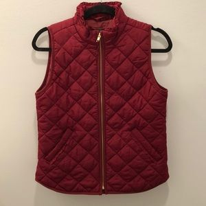 NWT burgundy quilted vest